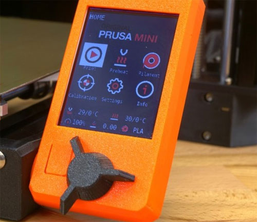 photo imprimante 3D Prusa Mini ecran lcd
