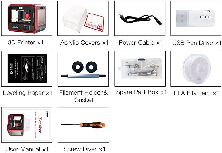 Qidi X-Maker 3D printer accessoires