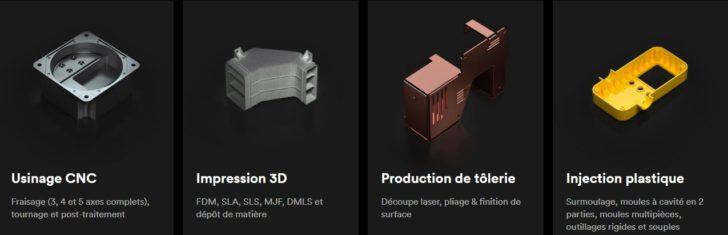 3D Hubs services impression 3D CNC plastique metal