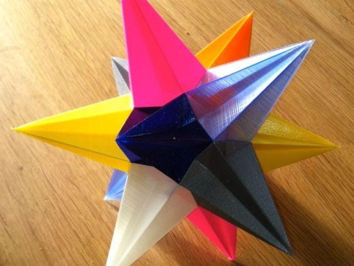 étoile de noel multicouleurs