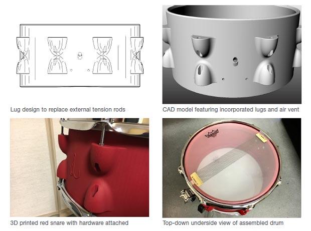 instrument batterie imprimée 3D