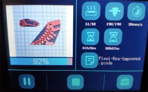 Flexi Rex flexirex test imprimante 3D