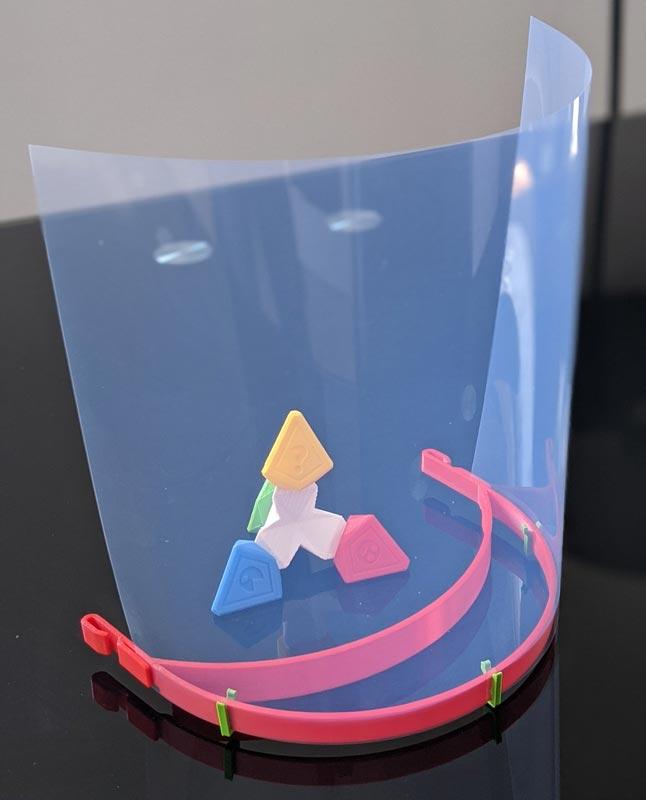 masque visière imprimée en 3D covid-19