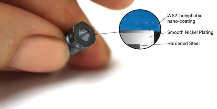E3D nozzle x revêtement polyphobe