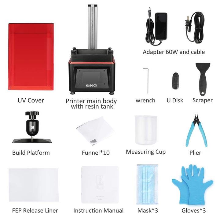 Elegoo Mars imprimante 3D SLA accessoires