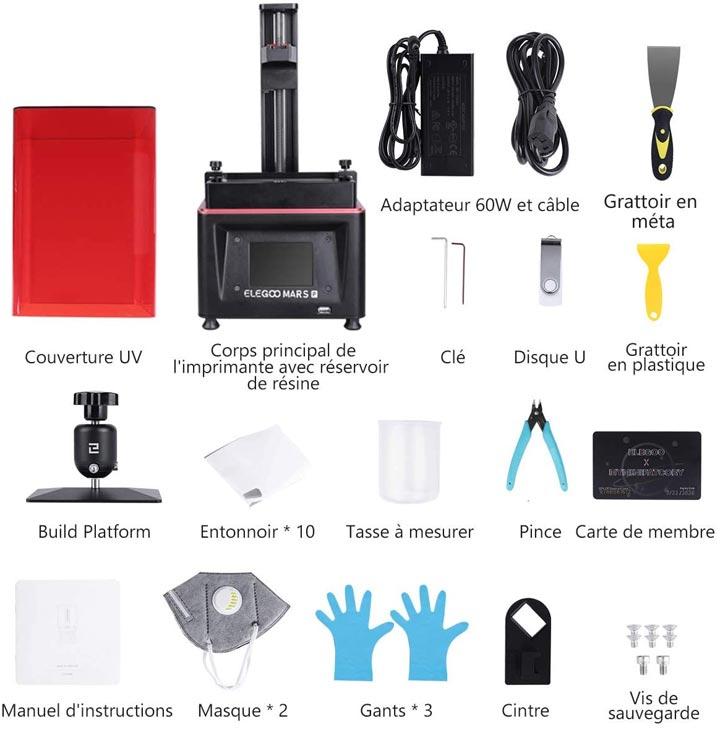 Elegoo Mars Pro imprimante 3D MSLA accessoires