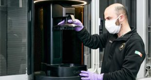 photo Lamborghini visiere shield shield 3D coronavirus fibre de carbone