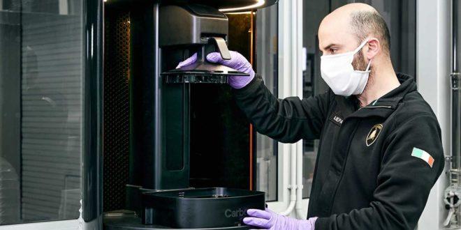 Lamborghini fabrique des masques et visières en impression 3D