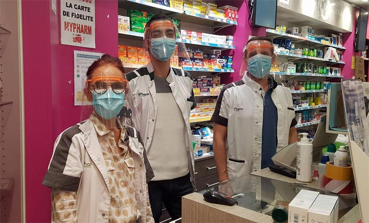 merci visière 3D pharmarcie