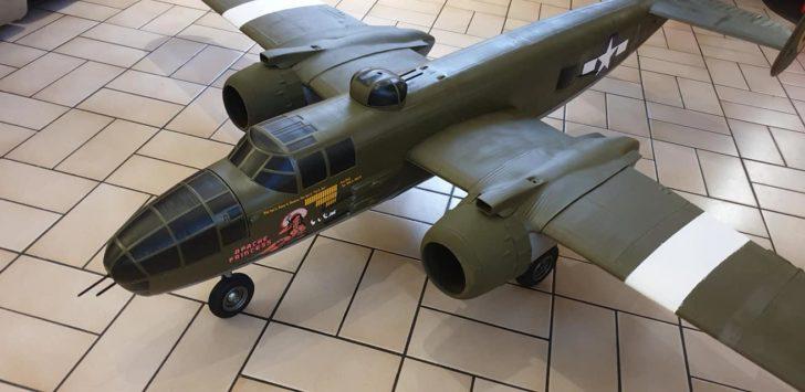 maquette avion militaire drone B-25 B25 imprimante 3D