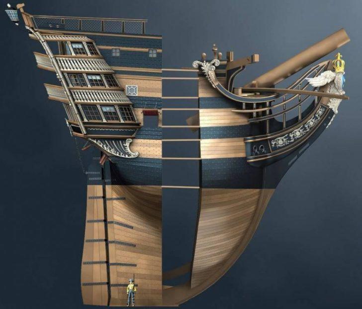 maquette bateau modelisation 3D
