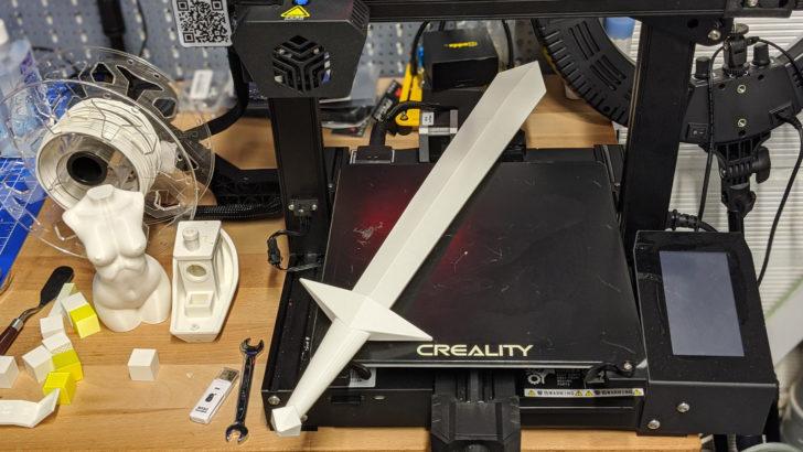 épée imprimée en 3d