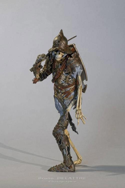 figurine squelette impression 3D SLA résine