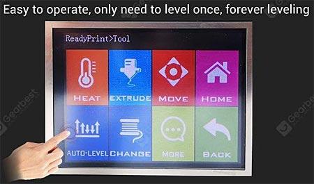 FLSUN QQ-S QQS auto level ecran
