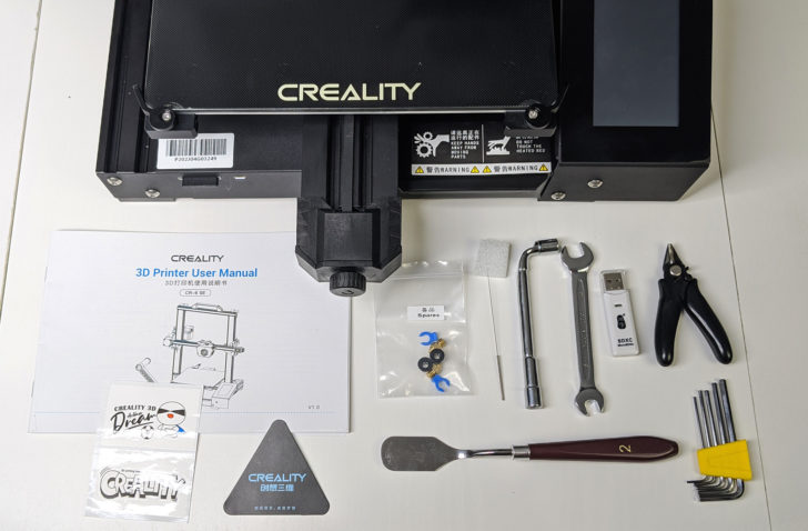 packaging outils accessoires creality cr-6 se