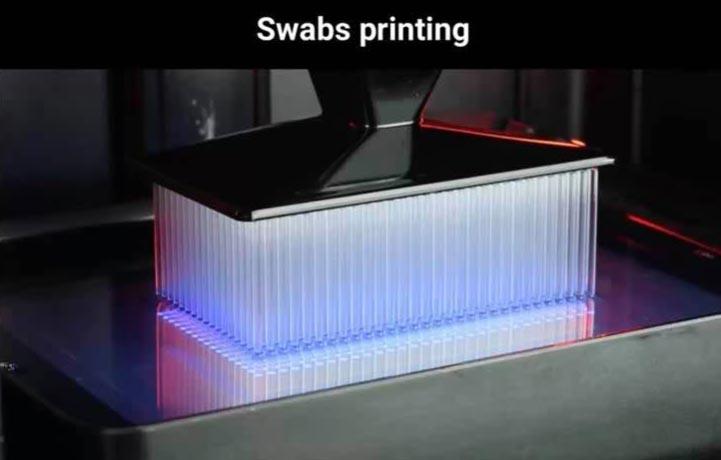 test covid coronavirus imprimé en 3D