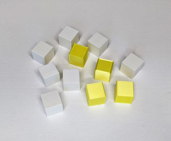 cubes imprimés en 3d