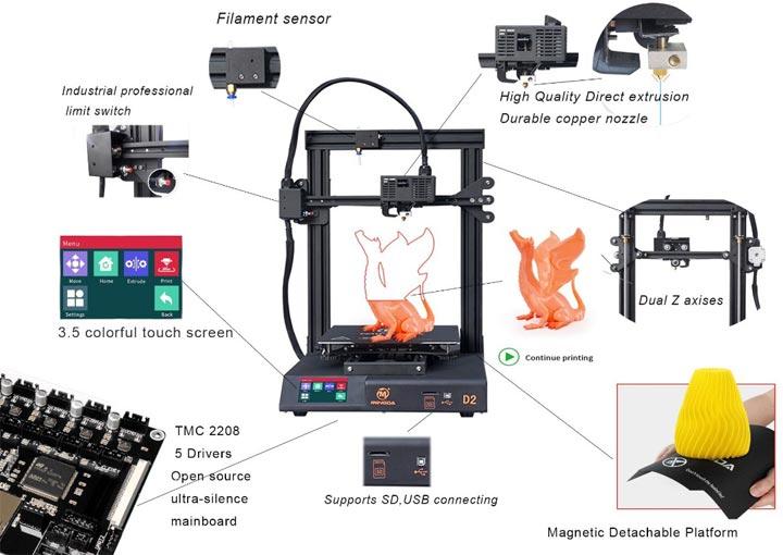 Mingda D2 imprimante 3D