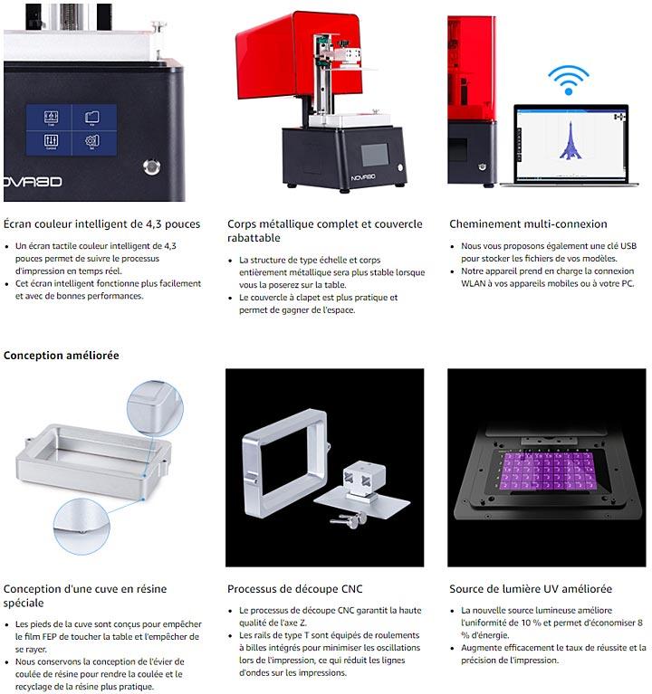NOVA3D BENE4 imprimante 3D SLA résine liquide