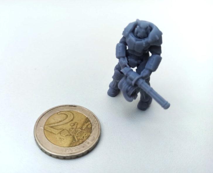 Micro figurine imprimée en 3D résine