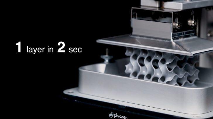 Phrozen Sonic Mini 4K print speed