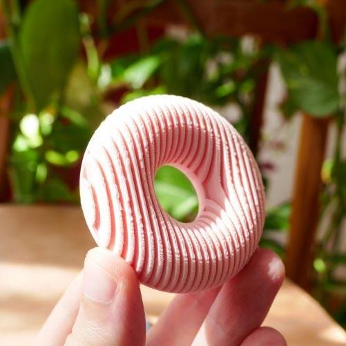 porte photo carte de visite donut imprimé en 3D