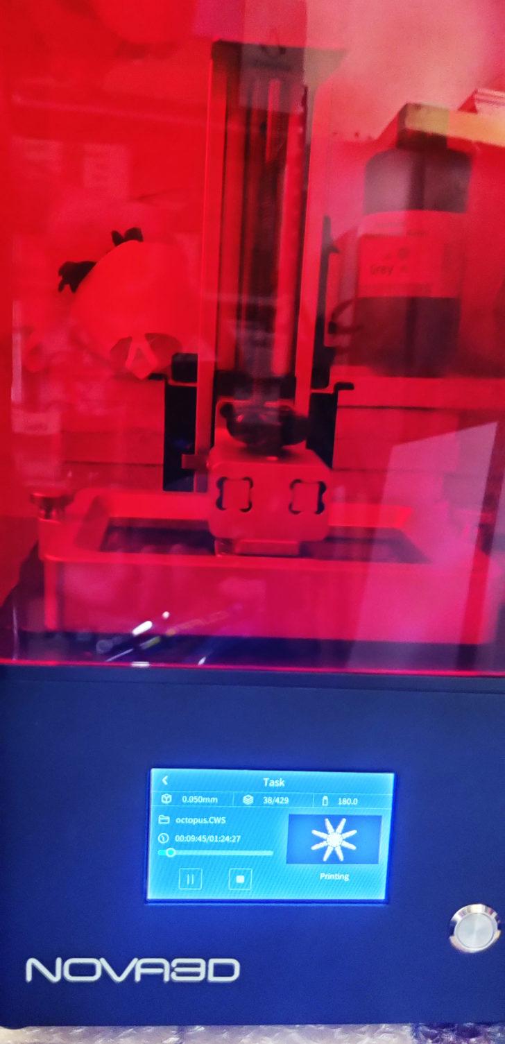 imprimante 3d résine test