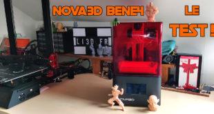 test nova3d bene4 tuto montage réglages