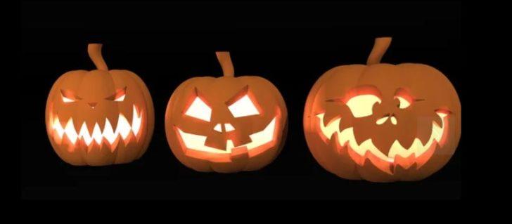 Halloween citrouilles 3D photo