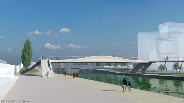 photo pont imprimé en 3D Paris JO 2024