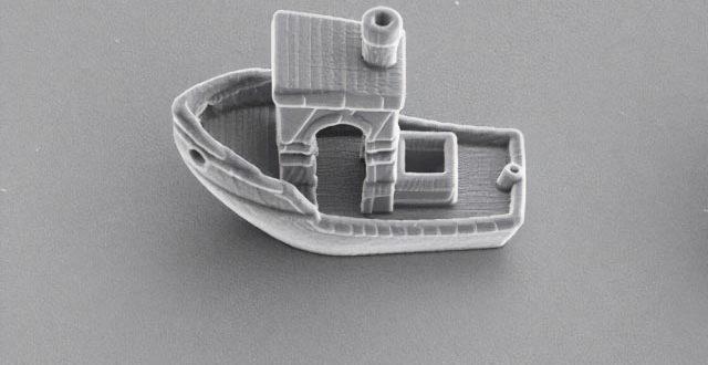 benchy boat impression 3D microscopique