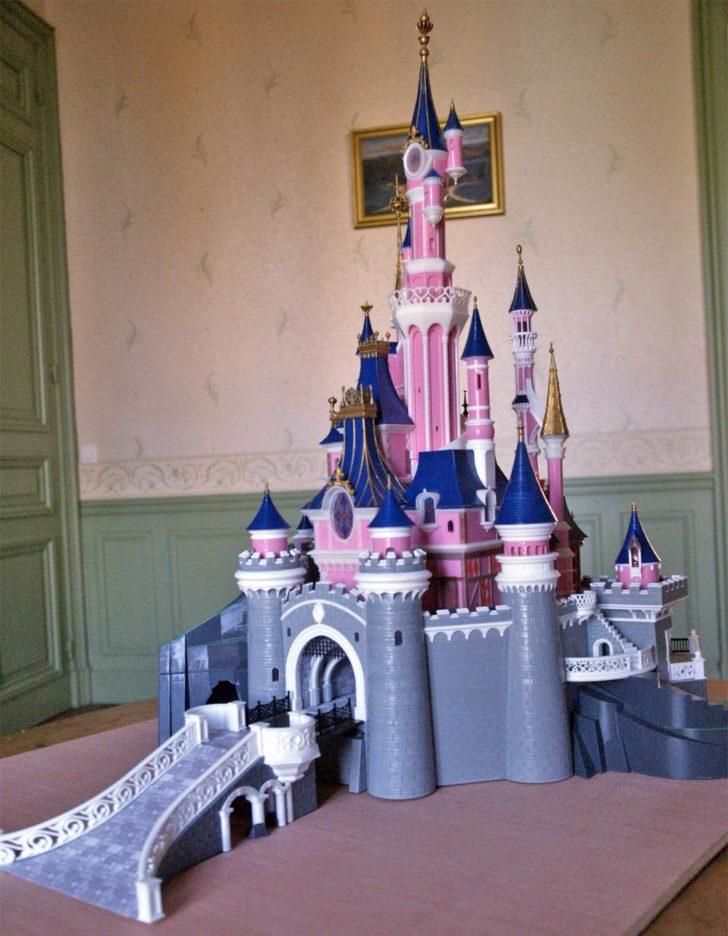 maquette 3D chateau belle au bois dormant Disney