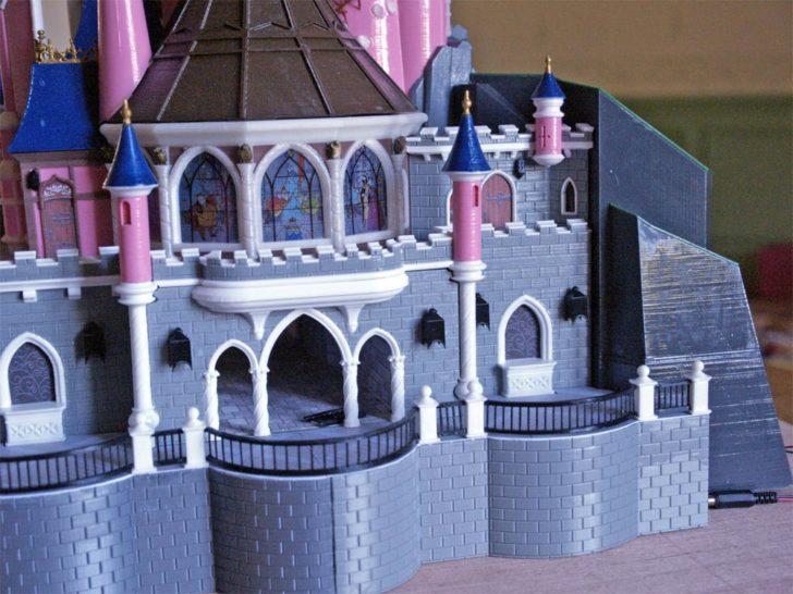 maquette 3D chateau belle au bois dormant