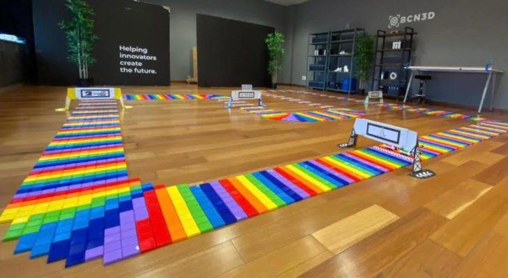 mario kart bcn3d rainbow road 3D