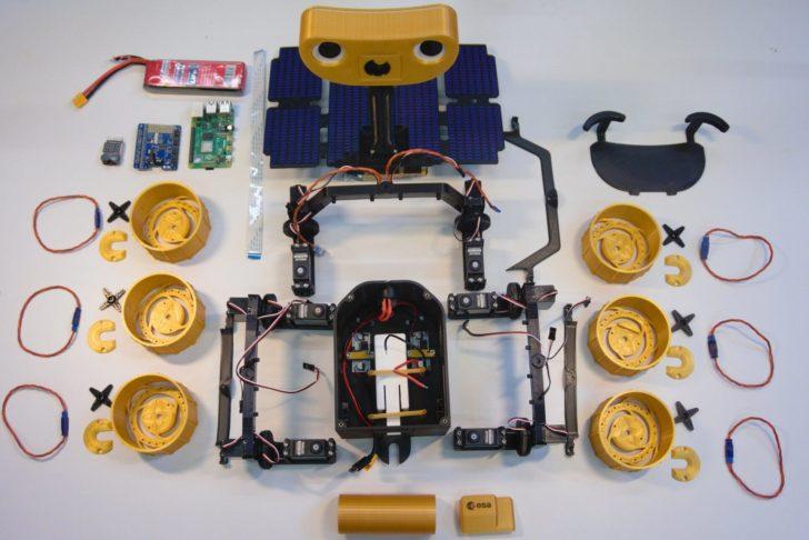 robot spatial Mars ExoMy rover 3D DIY
