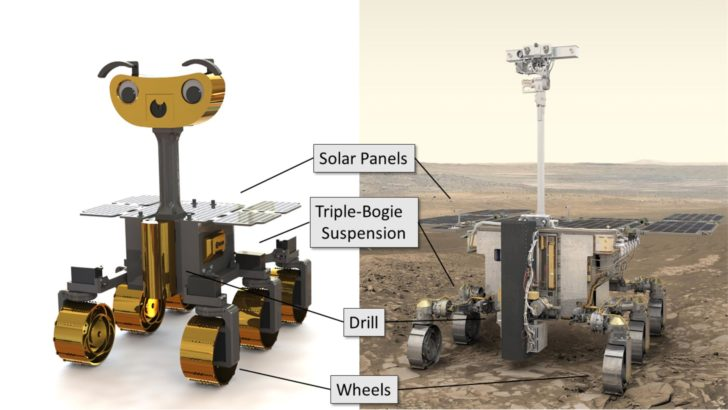 robot spatial Mars ExoMy rover 3D