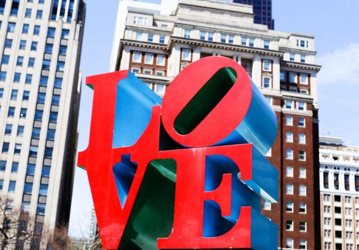Love Statue Philadelphia 3D