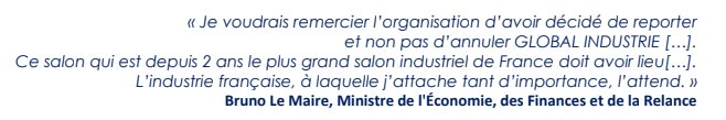 bruno lemaire global industrie 2021