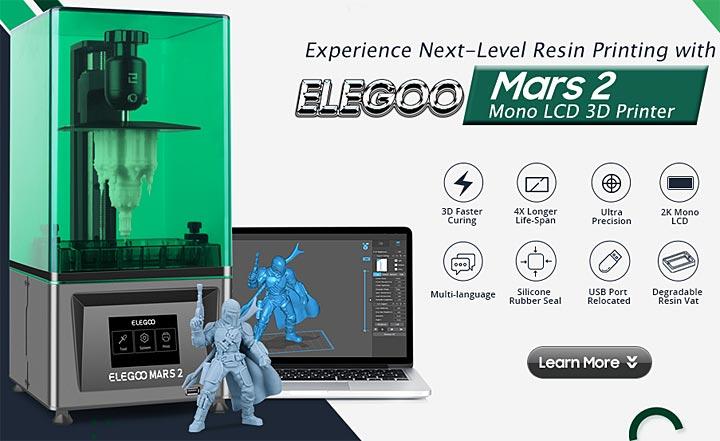 Elegoo Mars 2 Mono MSLA imprimante 3D