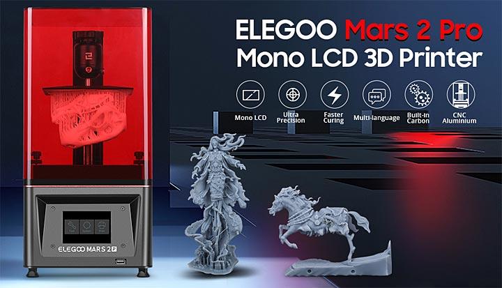 Elegoo Mars 2 Pro MSLA imprimante 3D