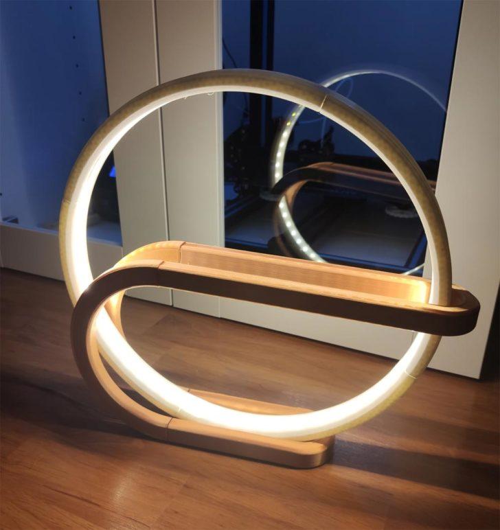photo lampe cercle 3D circle lamp