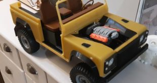 moteur land rover imprimé en 3D