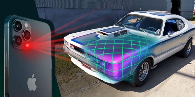 scanner 3D iphone 12 voiture
