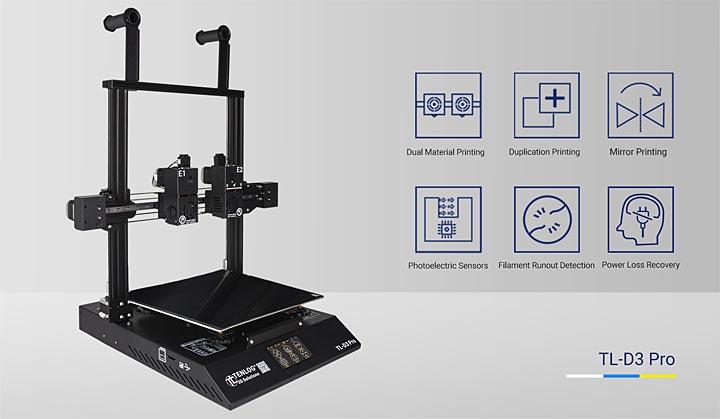 Tenlog TL-D3 Pro TLD3 imprimante 3D