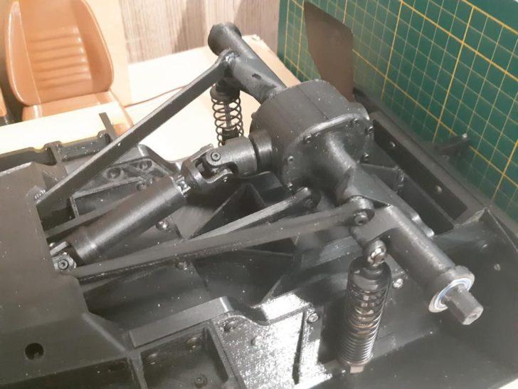 transmission voiture radioguidée imprimée en 3D