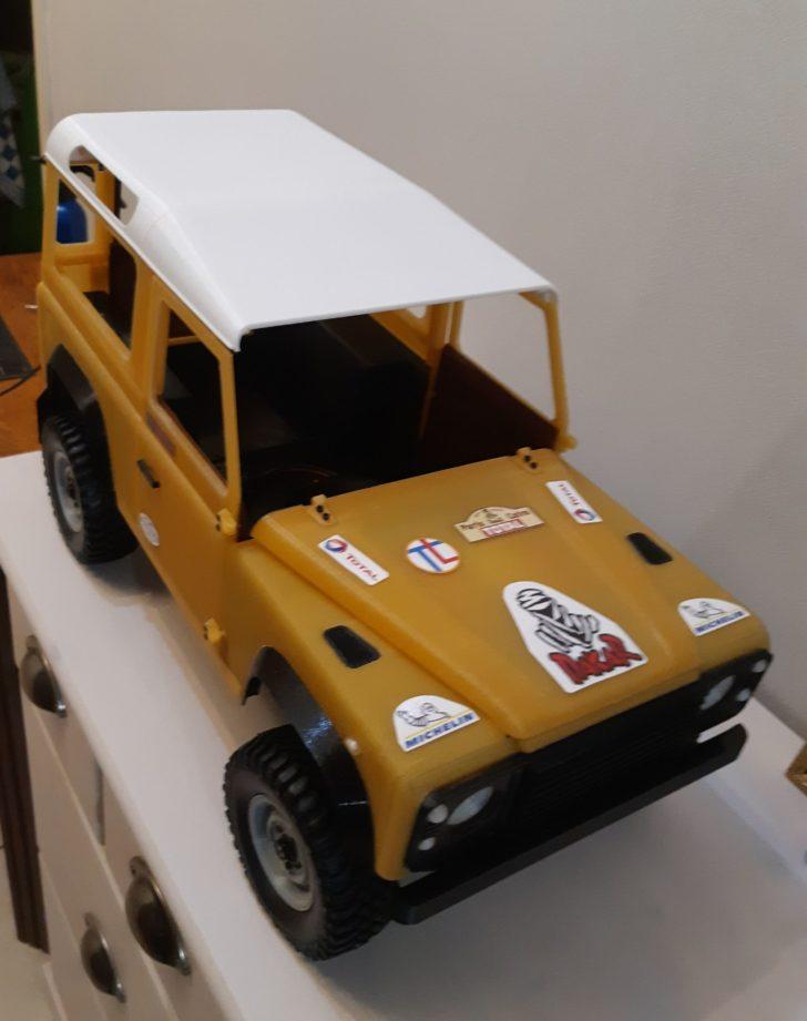 voiture dakar imprimée en 3d