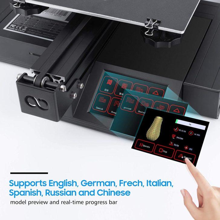 écran tactile multilangues