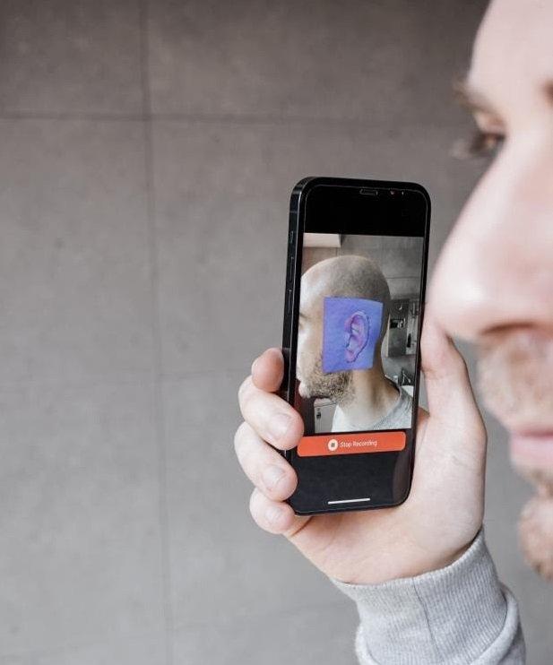 oreille scannée en 3d