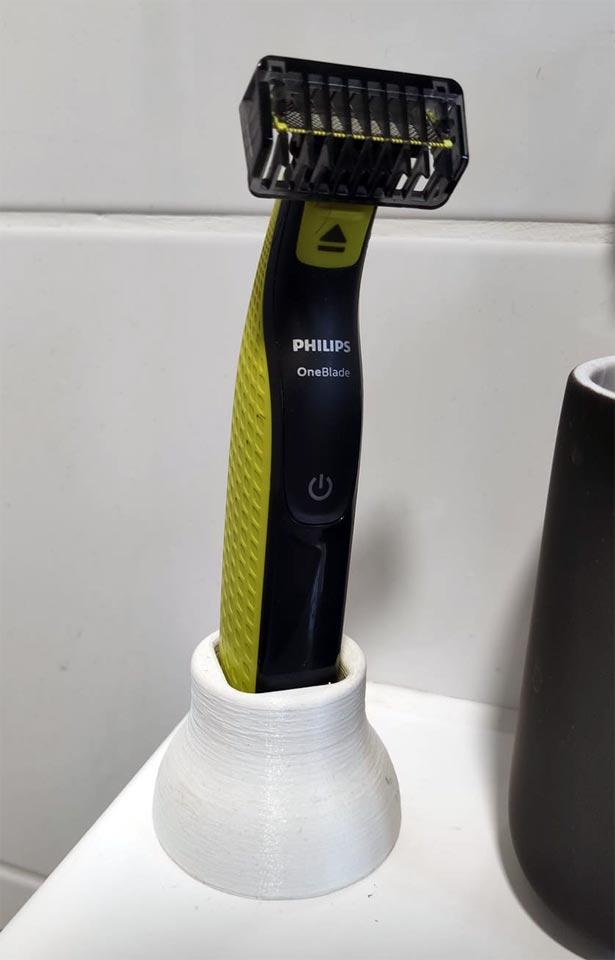 support rasoir tondeuse barbe salle de bain
