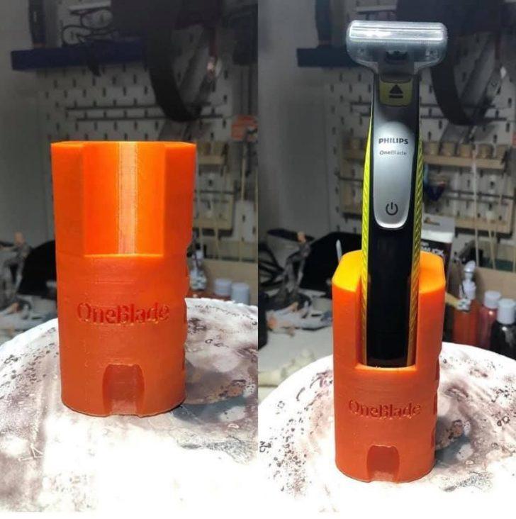 support rasoir tondeuse barbe salle de bain Philips One Blade